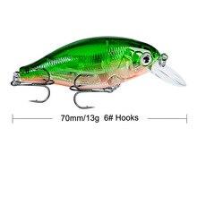 Brand Lifelike VIB Floating Fishing Lure 7CM 13G Pesca Hooks Fish Wobbler Tackle Crankbait Artificial Japan Hard Bait 1pcs