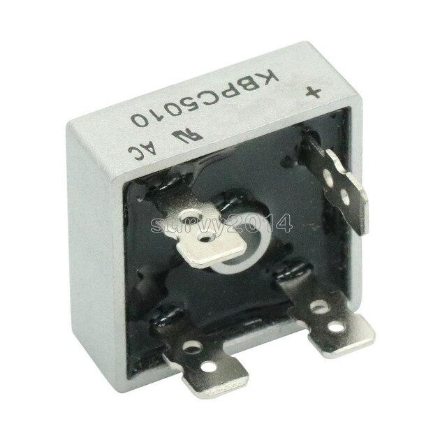 2 قطعة/الوحدة KBPC5010 50A 1000V ديود جسر المعدل kbpc5010