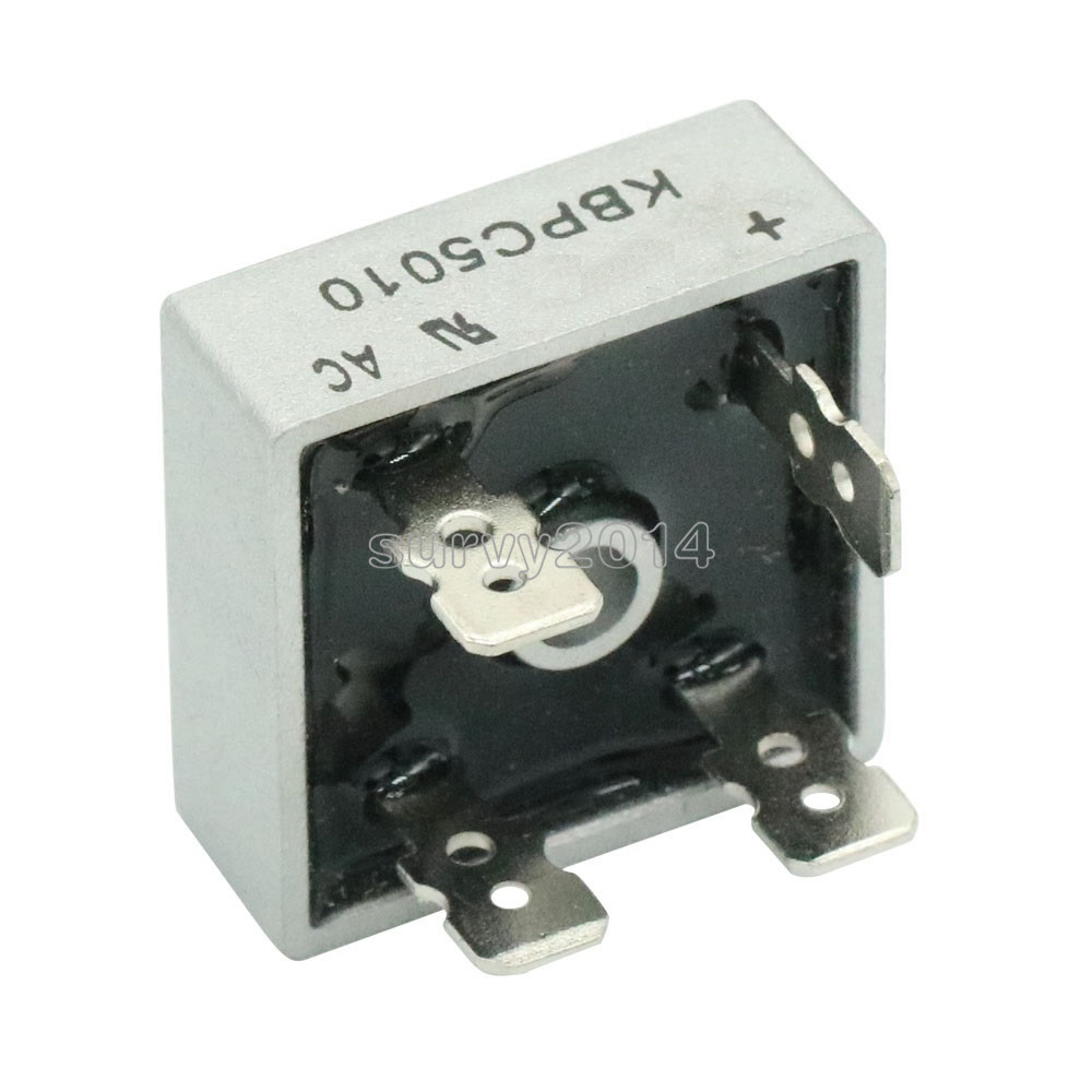 2PCS/LOT KBPC5010 50A 1000V Diode Bridge Rectifier kbpc5010