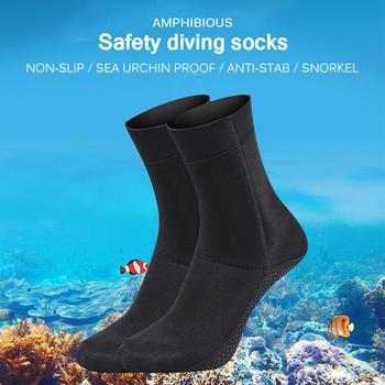 3mm neoprenowe skarpety do nurkowania buty odporne na zarysowania antypoślizgowe sporty zimowe sporty wodne Snorkeling Surfing pływanie buty nurkowanie skarpety tanie i dobre opinie Podkolanówki comfortable Breathable