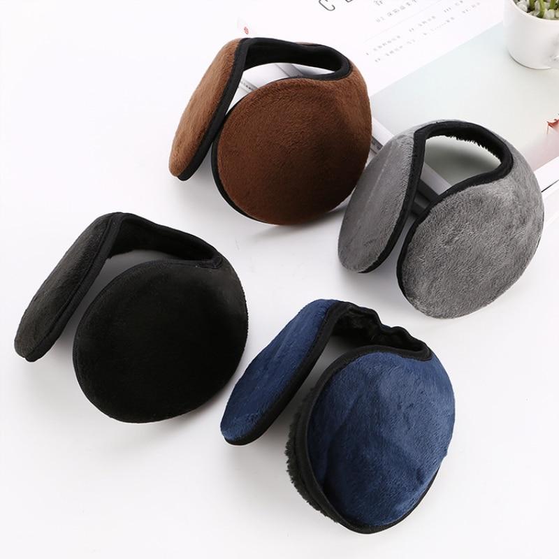1 Unisex Solid Winter Fashion Earmuffs Women Men Ear Covers Protector Thicken Plush Soft Warm Earmuff Warmer Apparel Accessories