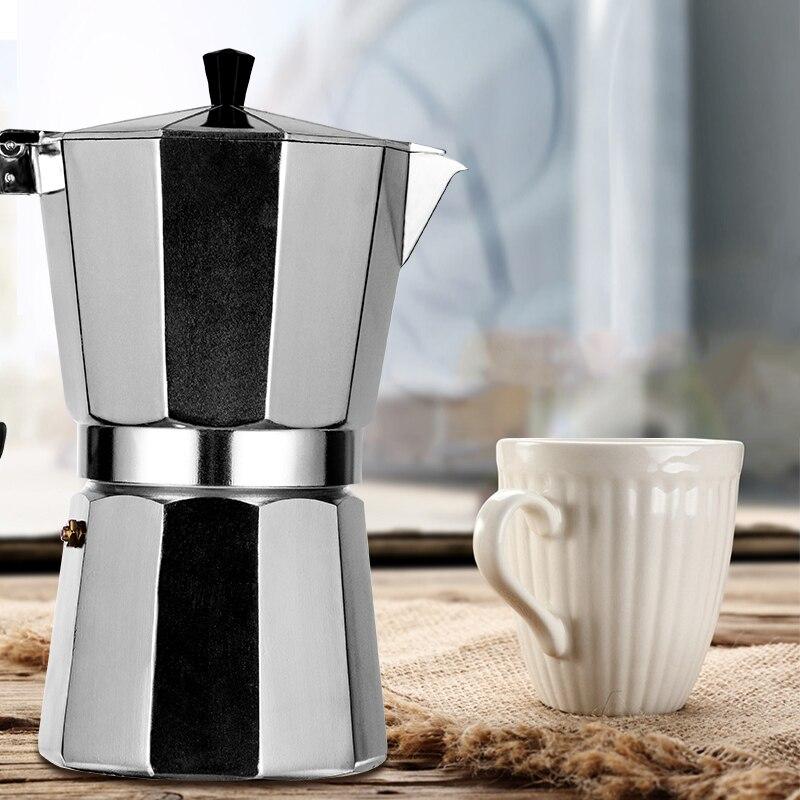 Coffee Maker Durable Moka Cafeteira Expresso Percolator Pot Practical Moka Coffee Pot 50/100/150/300/450/600ml
