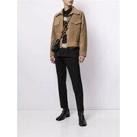 2021 herbst Winter herren Jacke Faux Leder Slim-Fit Shirt Design Nähte Business Casual Männlichen Wildleder Mantel