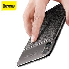 Baseus 3500mAh güç bankası şarj için iPhone X Ultra ince pil şarj kılıf iPhone X güç bankası için şarj cihazı