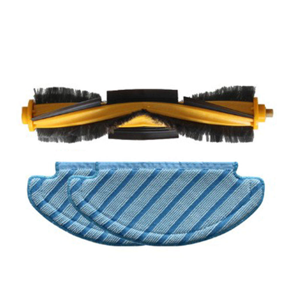 1pc Roller Brush & 2pcs Cleaning Mop Cloth For Ecovacs Deebot T8 Machines Robot Vacuum Cleaner Home Appliance Accessories