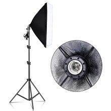 Kits de iluminación Softbox rectángulo de fotografía 50x70CM sistema de luz continua profesional para equipo de estudio fotográfico