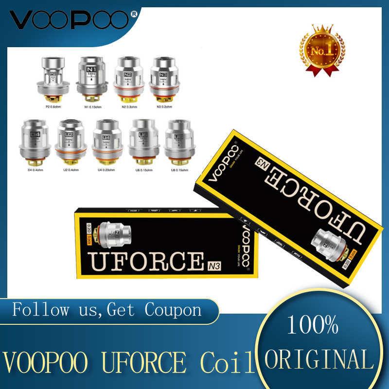 5PCS/Pack New VOOPOO UFORCE U2/N3/P2/N1/N2/U4/U6/U8/D4 Coil For Voopoo Drag Kit Voopoo Drag Mini VS IJOY X3 Coil