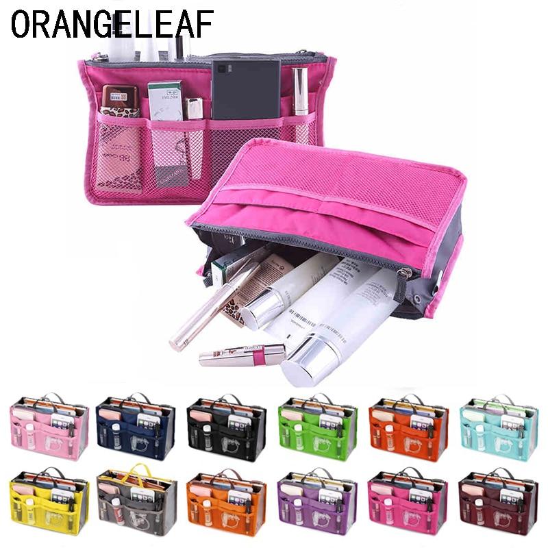Travel Organizer Insert Bag Women Nylon Organizer Handbag Purse Large Lady Makeup Cosmetic Bag Cheap Female Wash Bag