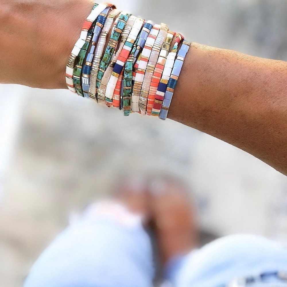 Go2boho Boho Bracciali Perle di Vetro Del Braccialetto Per Le Donne di Estate MIYUKI Tila Pulseras Mujer Moda 2020 Nuova Femme Commercio All'ingrosso Dei Monili