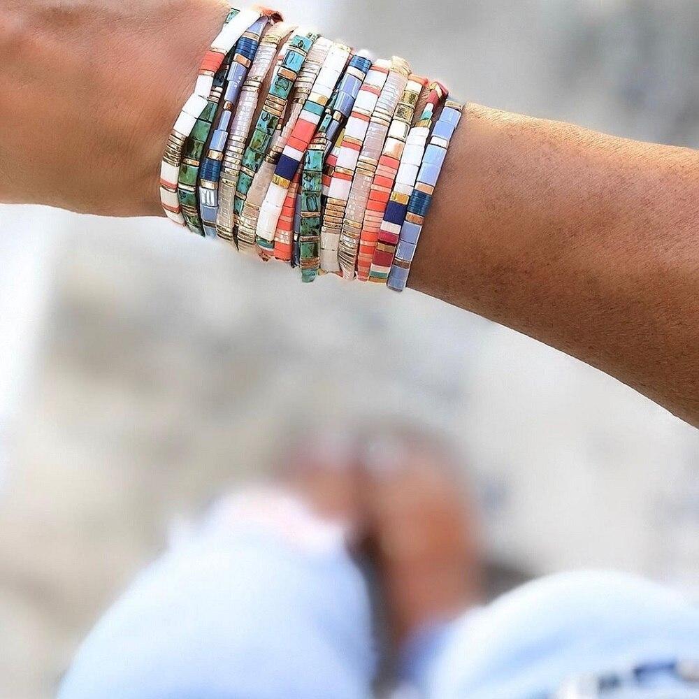 Go2boho Boho Bracelet For Women Summer MIYUKI Tila Bracelets Glass Beads Pulseras Mujer Moda 2020 New Femme Jewelry Wholesale(China)