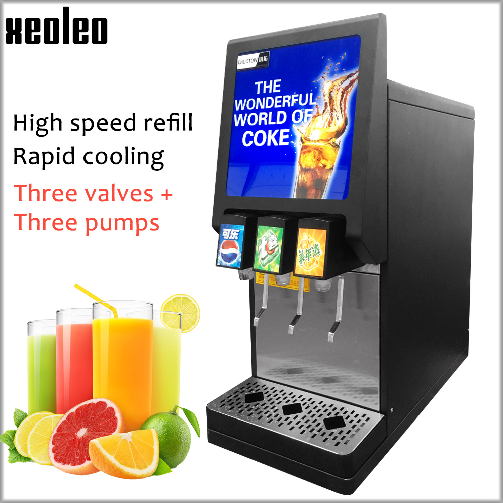 XEOLEO 3 Pumps Cola Dispenser Cola Machine Cola Drink Dispenser Sprite/Fanta/Pepsi/Juice Beverage Dispenser Drink Machine