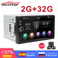 2din Android 9.0 Car Stereo 2G RAM 32G ROM AutoRadio GPS Navigation 7 1024x600 Mirror Link Bluetooth wifi RDS SWC OBD Video-OUT