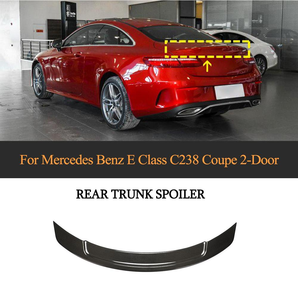 Car Rear <font><b>Spoiler</b></font> Wing For Mercedes-Benz E Class <font><b>C238</b></font> Coupe 2019 2020 Rear Trunk <font><b>Spoiler</b></font> Boot Lip Wing Carbon Fiber image