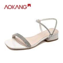 Aokang/Летние босоножки; Женская обувь; Однотонные дышащие сандалии
