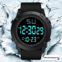 HONHX-reloj deportivo para hombre, cronómetro Digital multifunción, resistente al agua, militar, LED Digital