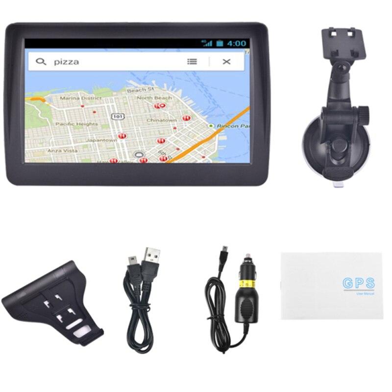 7 zoll Auto GPS Navigator 8GB Tragbare Lebensdauer Karte Update Gesprochen Drehen-Zu-Turn Navigation System