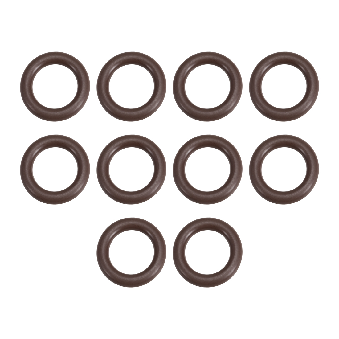 uxcell 10 Pcs Fluororubber Gasket Sanitary Tri Clamp Washer 29mm x 18.4mm O-Ring