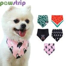 Шарф-ошейник для собак с принтом, милая треугольная бандана для собак, полотенца для слюней, мягкий ошейник для собак, кошек, чихуахуа, домашних животных, шейный платок