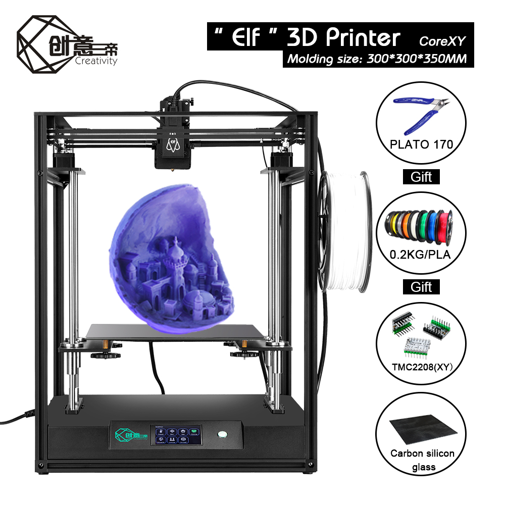cheapest Creality 3D Full Assembled Extruder Kits With 2PCS Fans Fan Cover Air Connections Nozzle Kits for CR-10 Series 3D Printer Parts