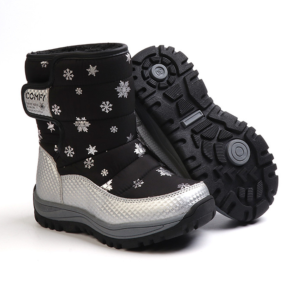 Children Baby Snow Anti-slip TPR Boots Shoes Winter Boots Fashion Kids Shoes Students Boy Girls Sneakers Boot Great Gift To Kids