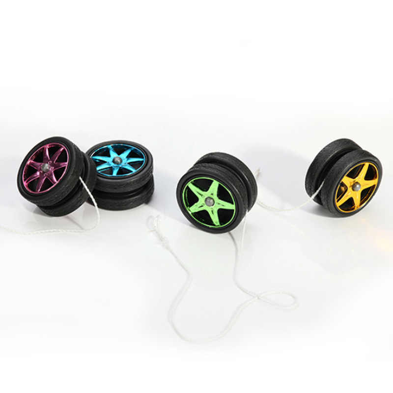 Neue Kunststoff Räder Yo Yo Kind Kupplung Mechanismus Yo-Yo Spielzeug für Kinder Party/Unterhaltung YoYo Ball Leucht spielzeug Gelegentliche Farben