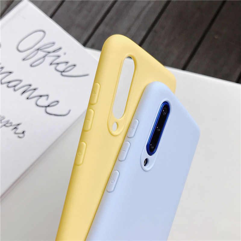 Cassa del telefono del silicone di colore della caramella per samsung galaxy a50 a70 a30 a40 a20 a10 galaxi a51 a71 a20e m30s a7 2018 opaco molle di tpu casi