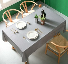Waterproof Anti-scalding PVC Tablecloth Cover Rectangular Lace Mat Kitchen Oil cloth Glass Soft Cloth Table Cloth