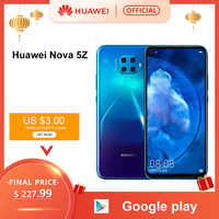 Smartphone d'origine Huawei Nova 5z 6GB 64GB 128GB Nova5z 48MP caméras 32MP caméra frontale 6.26 ''plein écran Kirin 810 Android 9