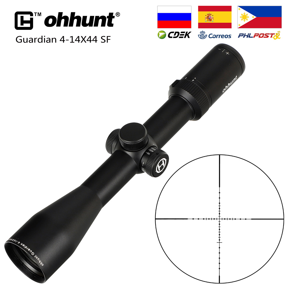 Hunting Ohhunt Guardian 4-14X44 SF Rifle Scope Side Parallax 30mm Tube Tactical Riflescopes With KillFlash Cover And Mount Rings