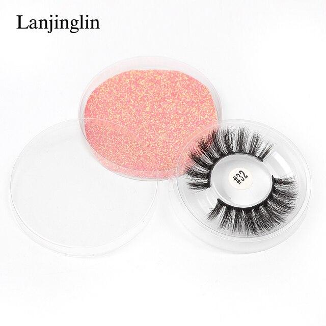 LANJINGLIN Wholesale Bulk 4/40/50/100pcs 6D Mink Lashes Natural False Eyelashes Long Set faux cils Bulk Makeup wholesale lashes 6