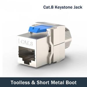 Image 1 - חתול 8 רשת מחבר Toolless Keystone ג ק מודול מלא מסוכך RJ45 שקע מסוף עד PoE + 100W 40G 2000MHz LAN חוט