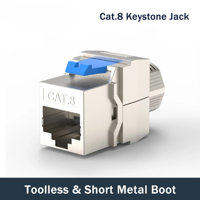 חתול 8 רשת מחבר Toolless Keystone ג ק מודול מלא מסוכך RJ45 שקע מסוף עד PoE + 100W 40G 2000MHz LAN חוט