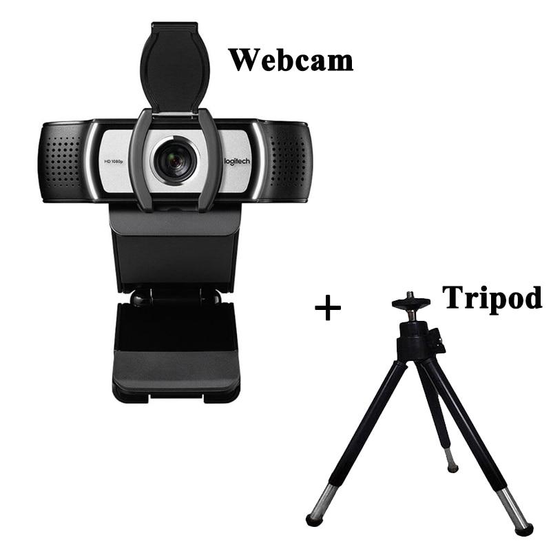 Logitech C930c With Tripod 1080p HD Webcam Multi-platform Web Camera For Meeting Office Home