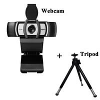 Logitech C930c With Tripod 1080p HD Webcam Multi platform Web Camera For Meeting Office Home