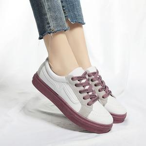 Image 3 - New Brand Shoes Women Vulcanized Canvas Casual Sneakers Fashion Lace Up Shoes Ladies Footwear Female Tenis Feminino Ayakkabi