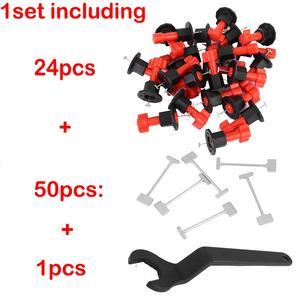 Image 2 - 75 pièces/ensemble cales de niveau entretoises pour Carrelage mural Carrelage niveau remplaçable aiguilles en acier localisateur entretoises pince