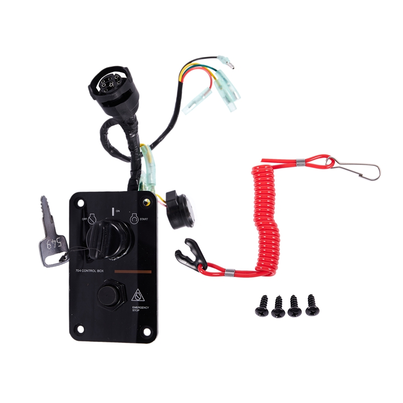 12V 0.1W Single Key Switch Panel Accessory Fit Yamaha Outboard Yacht 704-82570-08-00