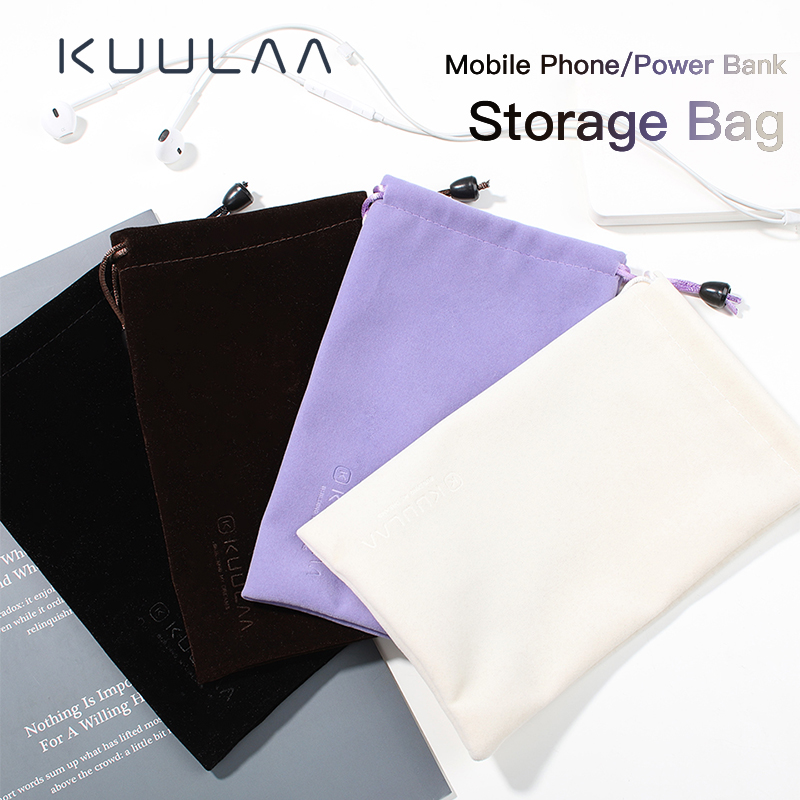 KUULAA Power Bank Case Phone Pouch For IPhone Samsung Xiaomi Huawei Waterproof Powerbank Storage Bag Mobile Phone Accessories