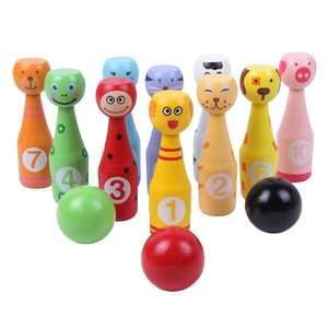 Wooden Bowling-Set f...