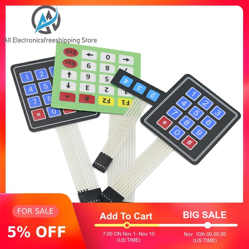 New 4 12 16 20 Key 4*4 Membrane Switch Keypad 1x4 3x4 4x4 4*5 Matrix Array Matrix Keyboard For Arduino Smart Car