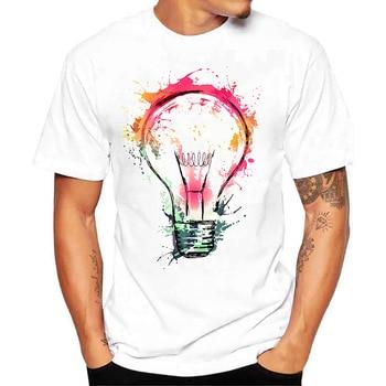 2020 3D Short-Sleeved T-shirt Men's round Neck Short-Sleeved Large Fashion White t shirt for Men цена 2017