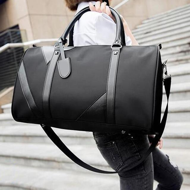 Double twelve lowest price Women Men Solid Color Handbag Travel Storage Bag Fitness Luggage Duffle Pouch Christmas gifts