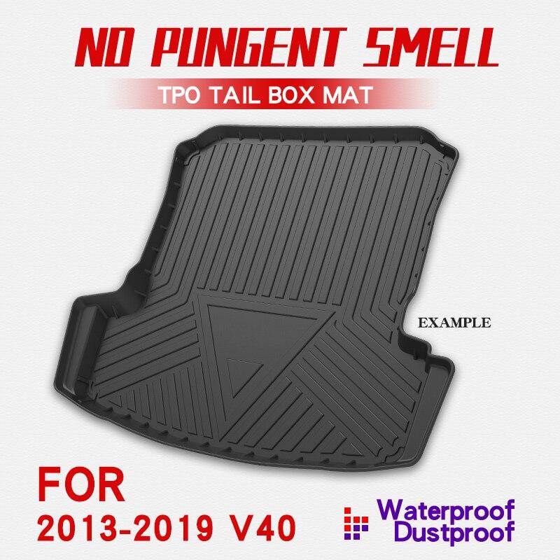 Car Cargo Liner Boot Tray Rear Trunk Cover Matt Mat Floor Carpet Kick Pad For Volvo V40 2013-2019