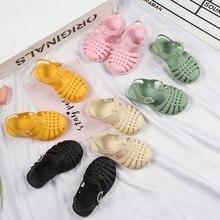 Crianças sandálias de verão crianças sapatos do bebê meninas da criança macio antiderrapante princesa gladiador sapatos de praia meninos casuais sandálias romanas