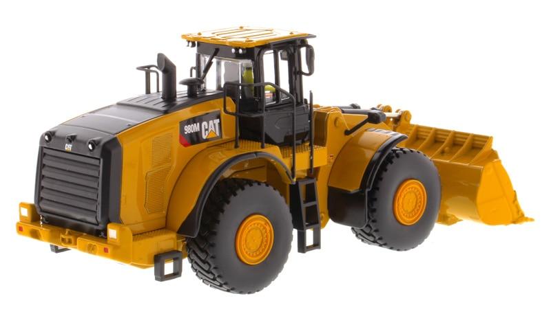 DM-85543 1:50 Cat 980M колесный погрузчик с рок игрушка ведро
