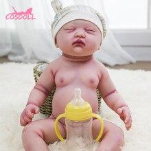 45cm rebirth realidade de corpo inteiro silicone bebê walker bonito bebê boneca muito macio bebê banho brinquedo bonecas presente natal