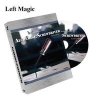 Alchemist: Screw Driver (2 Gimmicks And Dvd) Magic Tricks For Adults,Stage Magic Illusions,Magic Show Kit