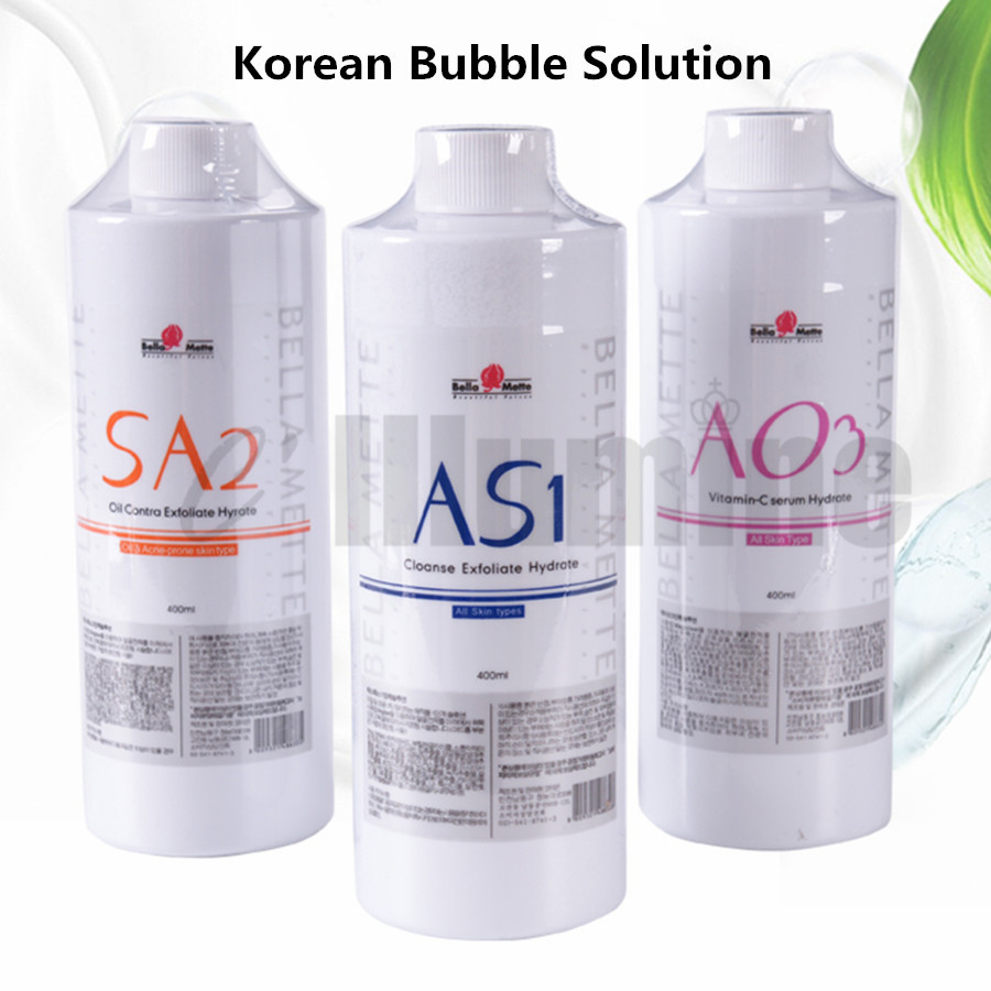 Ensemble sud petite bulle Solution équipement de gestion eau oxygène Essence propre noir eau AS1 + SA2 + AO3 400 ml/bouteille - 2