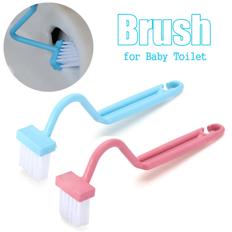 1 Pcs Bent Handle Cleaning Scrubber For Baby Boy Wall-Mounted Hook Potty Toilet Children Bathroom Urinal Accessory Free Shipping