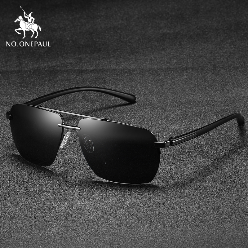 NO.ONEPAUL Brand Red Design Temples Sun Glasses Coating Mirror Glasses Oculos De Sol  Alloy Men's Sunglasses Polarized Lens